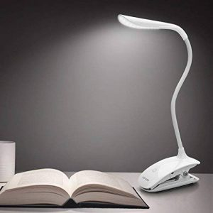 Lampe Clipsable Lecture Liseuse Led - Rechargeable Lampe Flexible Usb,Lampe Chevet à Pince sur le Lit,Portable LED, Veilleuse Lumière Tactile, 3 niveaux de Luminosité au Choix - Blanc de la marque LEVIN image 0 produit