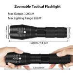 Mini Lampe Torche LED - FAGORY Lampe de Poche LED Torche Militaire Enfant, Zoomable, 5 Modes Intensité d'illumination Ajustable, Super Bright 800 Lumens, Antichoc, Anti-dérapant [Lot de 2] de la marque FAGORY image 1 produit